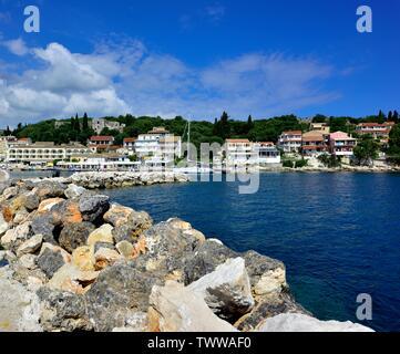 Kassiopi bay,Kassopaia,Ionian Islands, Corfu ,Greece - Stock Photo
