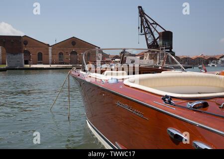 The 2019 edition of the Salone Nautico Venezia yachting expo - Stock Photo