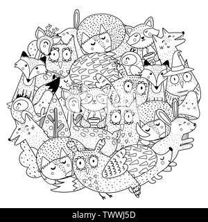 forest animals coloring pages | 320x300