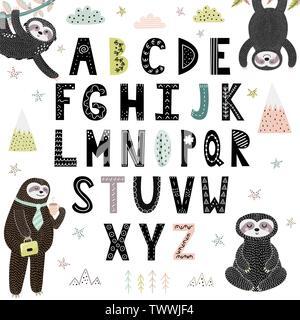 Cute children zoo alphabet X letter
