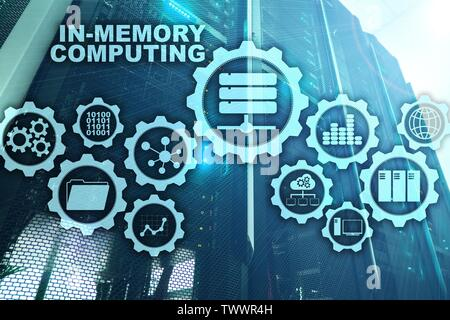 In-Memory Computing. Technology Calculations Concept. High-Performance Analytic Appliance - Stock Photo