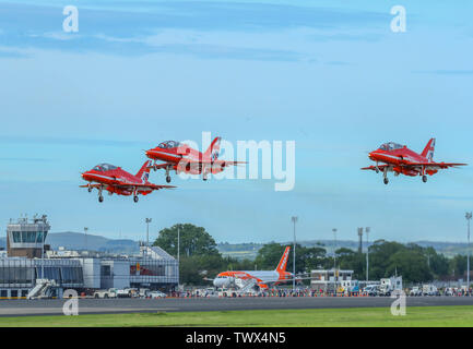 RED ARROWS BELFAST INTERNATIONAL AIRPORT - Stock Photo