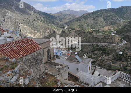 Picturesque village on the small island of Karpathos in the aegean sea, close to Crete. - Stock Photo