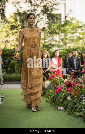 Parade of the Luxury Centers of El Corte Inglés in Madrid. Spain Featuring: model Where: Madrid, Spain When: 22 May 2019 Credit: Oscar Gonzalez/WENN.com - Stock Photo