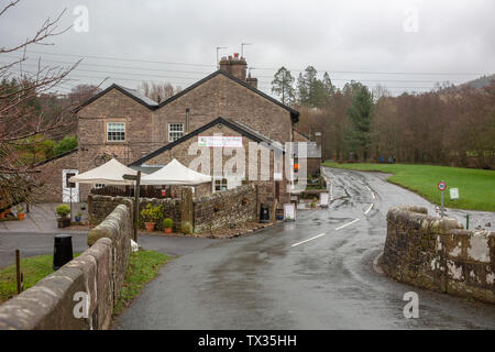 Puddleducks cafe and tea rooms at Dunsop bridge, the geographical centre of the united kingdom,Forest of Bowland,Lancashire,England - Stock Photo