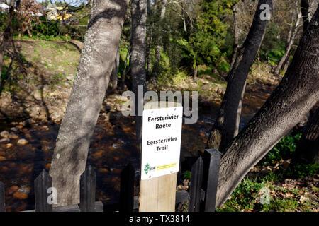 Eerste Rivier trail , Stellenbosch, South Africa - Stock Photo
