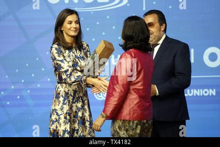 Madrid, Spain. 21st June, 2019. Spanish Queen Letizia Ortiz during 5 edition of Discapnet awards in Madrid on Friday, 21 June 2019. Credit: CORDON PRESS/Alamy Live News - Stock Photo