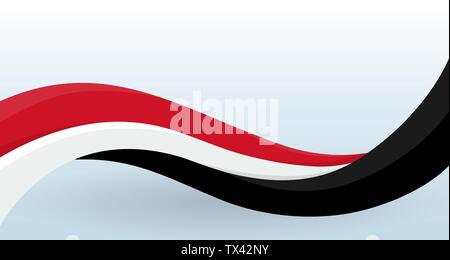 Norway Waving National flag. Modern unusual shape. Design template for decoration of flyer and card, poster, banner and logo. Isolated vector - Stock Photo