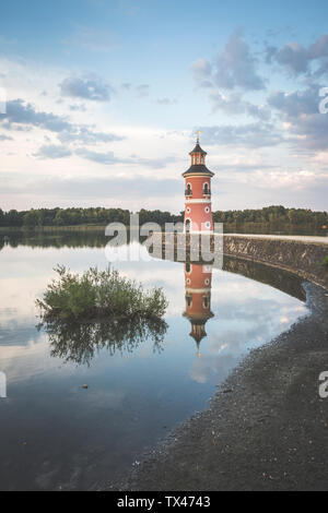 Germany, Saxony, Moritzburg Castle in the evening - Stock Photo