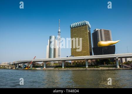 Japan, Tokyo, Asakusa, skyline with Tokyo Skytree - Stock Photo