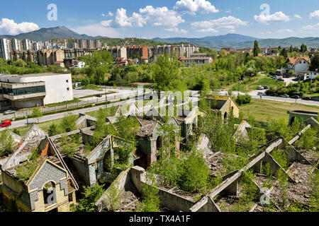 Bosnia-Herzegovina, Sarajevo, Shelled building - Stock Photo