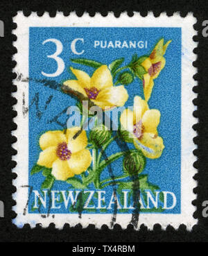 Stamp print in New Zealand - Stock Photo