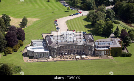 aerial view of Wynyard Hall, North East England, UK - Stock Photo