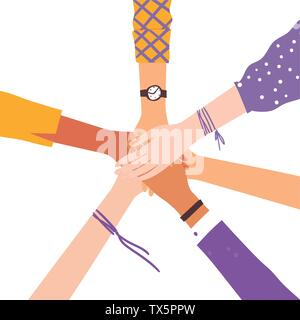 Vector image of hands shaking as friendship symbol.  - Stock Photo