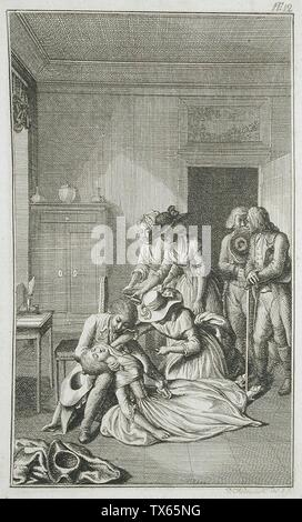 'Illustration for Richardson's 'Clarissa'; English:  Germany, 1785 Plate: Plate 12 Prints; etchings Etching Gift of Vergil Whirlow (55.103.177) Prints and Drawings; 1785date QS:P571,+1785-00-00T00:00:00Z/9; ' - Stock Photo