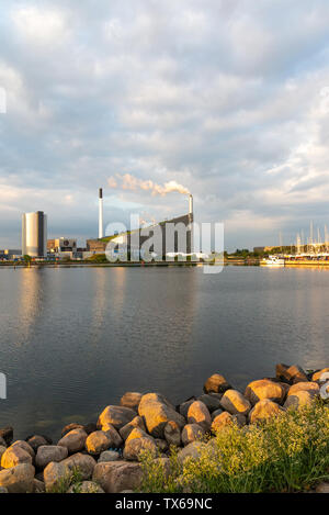 Copenhill (Amager Bakke) waste resource handling centre early morning. - Stock Photo