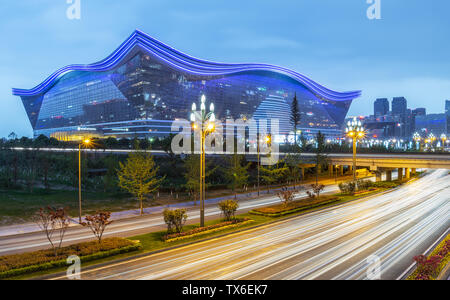 Chengdu Global Center Architecture Night View - Stock Photo