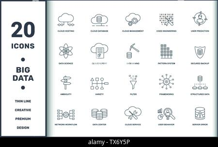 Big Data set icons collection  Includes simple elements such