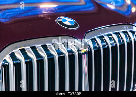 Detail of the BMW X7 car in Belgrade, Serbia. - Stock Photo