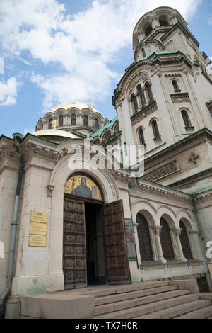 St. Alexander Nevsky Cathedral in the centre of Sofia, capital of Bulgaria. - Stock Photo