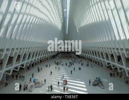 The Oculus Building, Manhattan, New York, USA - Stock Photo