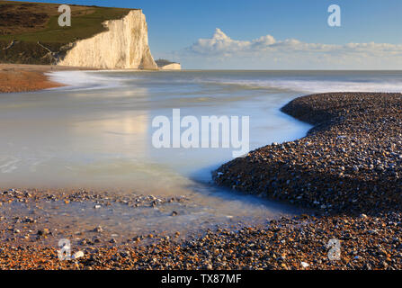 The Seven Sisters from Cuckmere Haven - Stock Photo