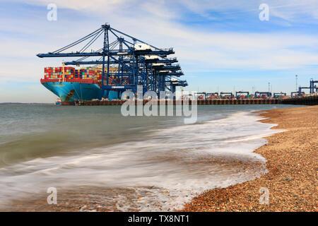 The Port of Felixstowe. - Stock Photo