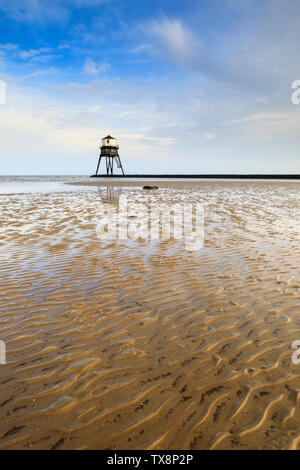 Dovercourt Lighthouse in Essex. - Stock Photo