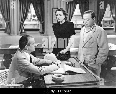 STRANGE CARGO 1940 MGM film with Joan Crawford and Peter Lorre at right - Stock Photo