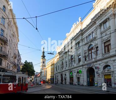 Wien, Vienna: street Taborstraße, Börse für landwirtschaftliche Produkte in Wien (Stock exchange for agricultural products in Vienna), short Produkten - Stock Photo