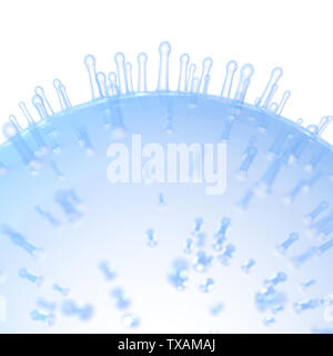 3d rendered medically accurate illustration of a cell surface - Stock Photo