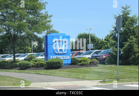 Princeton New Jersey - June 23, 2019:Honda store front. Logo and Sign. Honda Manufactures Among the Most Reliable Cars in the World VI - Image - Stock Photo