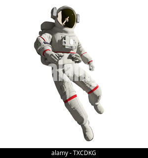 3d rendered medically accurate illustration of an astronaut isolated on a white background - Stock Photo