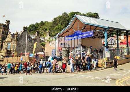 Tramway Great Orme, Llandudno, Wales, UK, United Kingdom - Stock Photo
