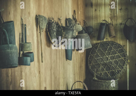Traditional handicrafts and cultural heritage of Dong nationality in Zhaoxing, Guizhou - Stock Photo
