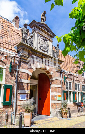 Haarlem, The Netherlands - May 31, 2019: Entrance Frans Hals museum a famous Dutch Golden Age painter who lived in Haarlem. - Stock Photo