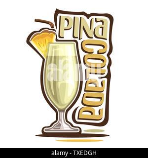 Vector cocktail Pina Colada - Stock Photo