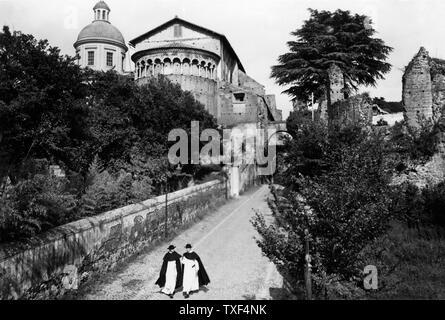 Italy, Rome, basilica of Saints John and Paul on the Caelian Hill , 1930 - Stock Photo