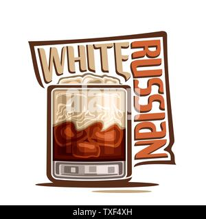 Vector cocktail White Russian - Stock Photo