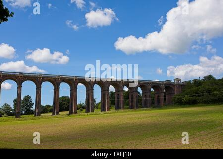Ouse valley viaduct, Balcombe, West Sussex, Uk - Stock Photo
