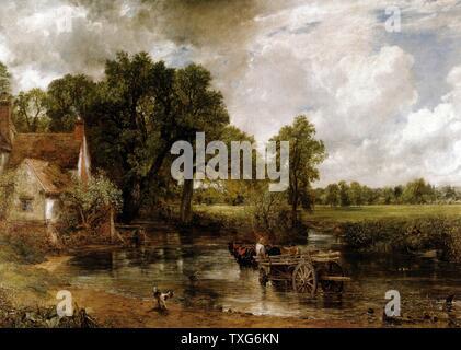 John Constable Ecole anglaise The Hay Wain 1821 Oil on canvas (130 x 185.4 cm) London, National Gallery - Stock Photo