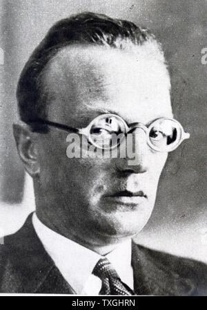 Photographic portrait of Arthur Seyss-Inquart (1892-1946) an Austrian Nazi politician who served as Chancellor of Austria and later served as the Third Reich in the General Government of Poland and as Reichskommissar in the Netherlands. Dated 20th Century - Stock Photo