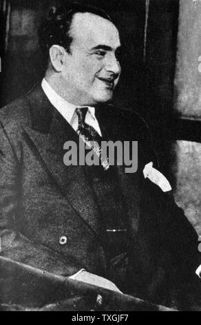 Photographic print of Al Capone (1899-1947) an American gangster during the Prohibition era. Dated 20th Century - Stock Photo