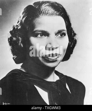 Marian Anderson  (1899-1993) American contralto. First black singer to appear at the Metropolitan Opera, New York (1955) Photograph - Stock Photo