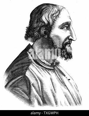 Ludovico Ariosto (1474-1533) Italian poet; author of the epic poem 'Orlando Furioso' (1516) Engraving - Stock Photo