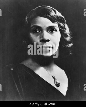 Marian Anderson, American contralto. First black singer to appear at the Metropolitan Opera, New York (1955). - Stock Photo