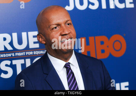New York City, United States. 24th June, 2019. Bryan Stevenson attends the 'True Justice: Bryan Stevenson's Fight For Equality' Premiere in New York City, USA. Credit: SOPA Images Limited/Alamy Live News - Stock Photo