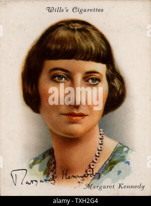 Margaret Moore Kennedy (1896-1967), British novelist and playwright, best remembered for 'The Constant Nymph' (1924) which was dramatised in 1926 and filmed several times.  From a series of cards of 'Famous British Authors' (London, 1937). - Stock Photo