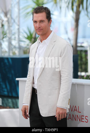 Matthew McConaughey arrives at a photocall for the film 'Mud' during the 65th annual Cannes International Film Festival in Cannes, France on May 26, 2012.   UPI/David Silpa