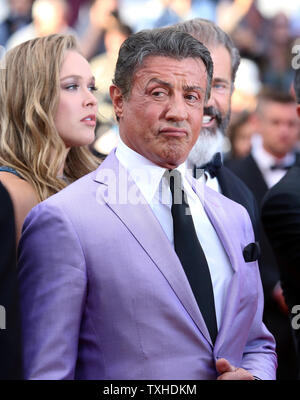 Sylvester Stallone arrives on the red carpet before the screening of the film 'The Expendables 3' during the 67th annual Cannes International Film Festival in Cannes, France on May 18, 2014.  UPI/David Silpa - Stock Photo